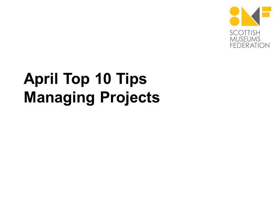 Managing Projects #1 Define, define, define.