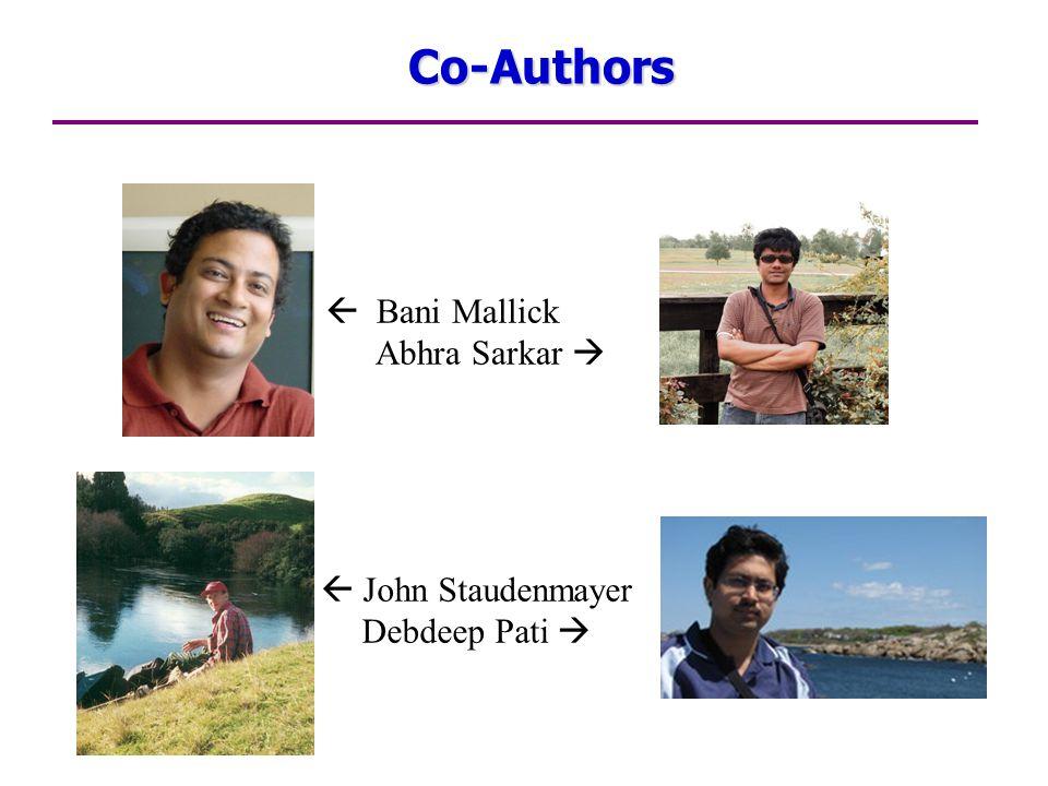 Co-Authors  Bani Mallick Abhra Sarkar   John Staudenmayer Debdeep Pati 