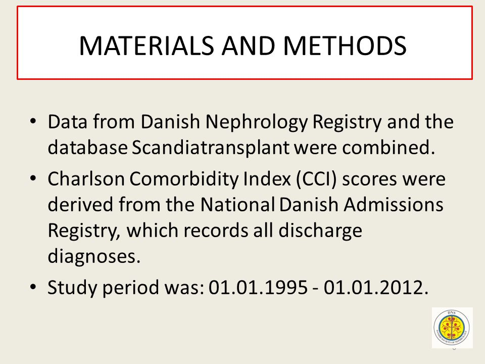 MATERIALS AND METHODS Data from Danish Nephrology Registry and the database Scandiatransplant were combined.