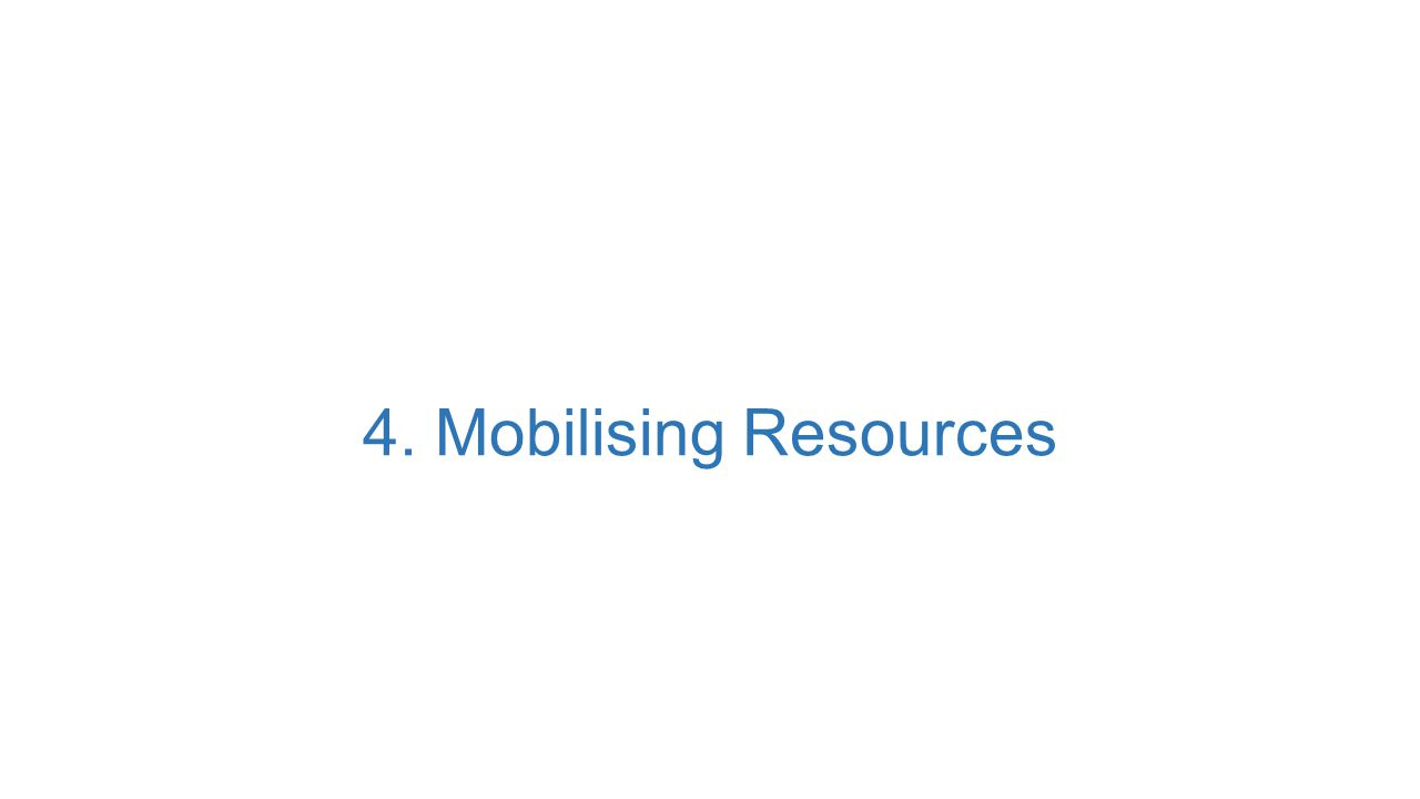 4. Mobilising Resources