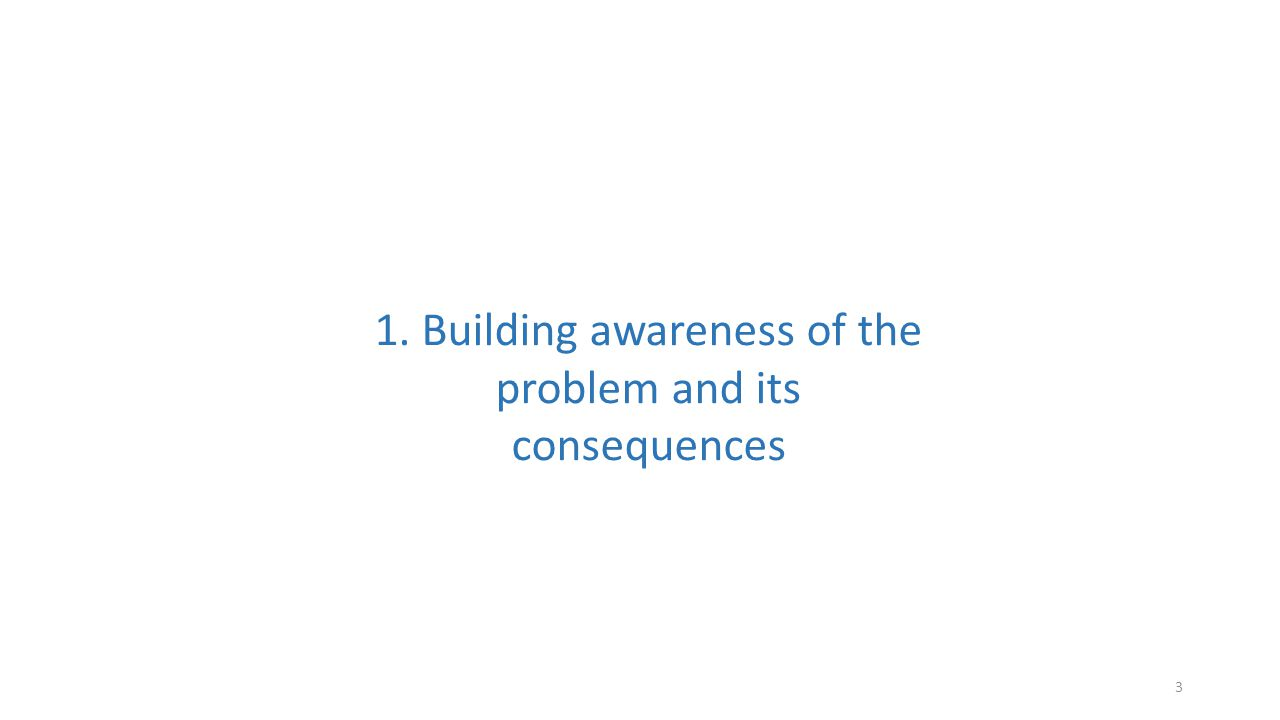 3 1. Building awareness of the problem and its consequences