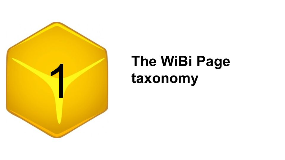 The WiBi Page taxonomy 1