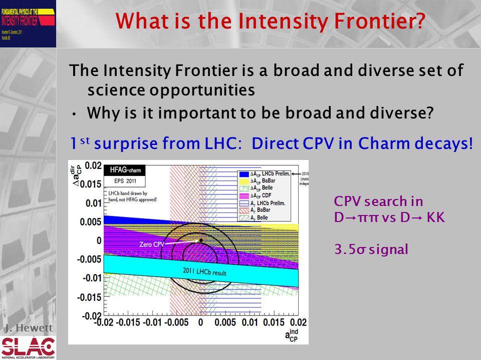 J. Hewett What is the Intensity Frontier.