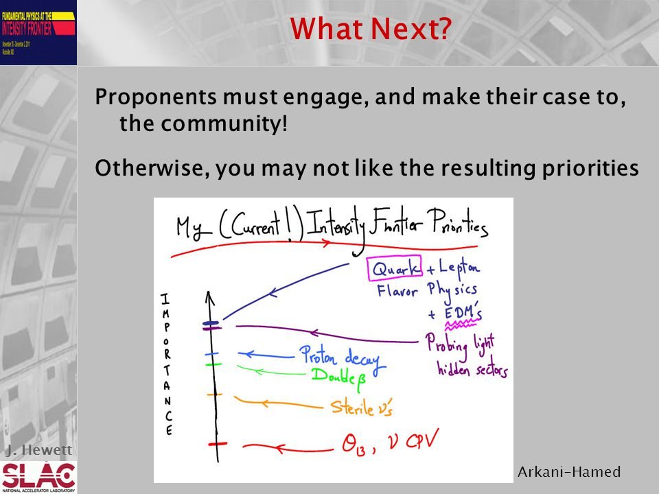 J. Hewett What Next. Proponents must engage, and make their case to, the community.