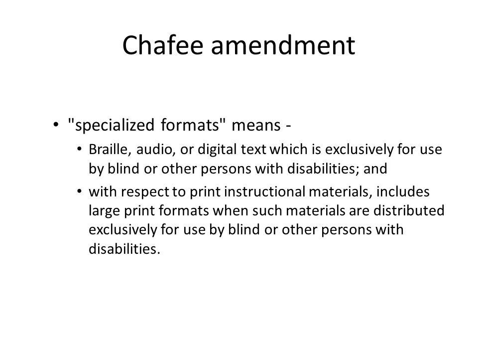 Chafee amendment