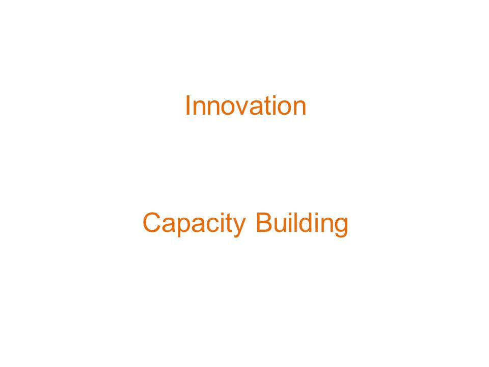 Innovation Capacity Building