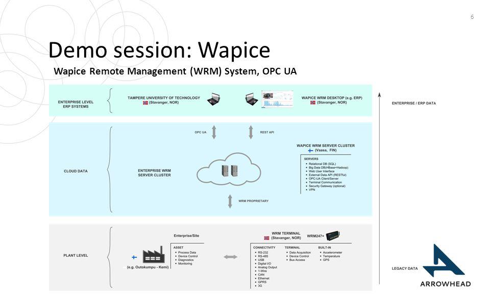 Demo session: Wapice 6 Wapice Remote Management (WRM) System, OPC UA