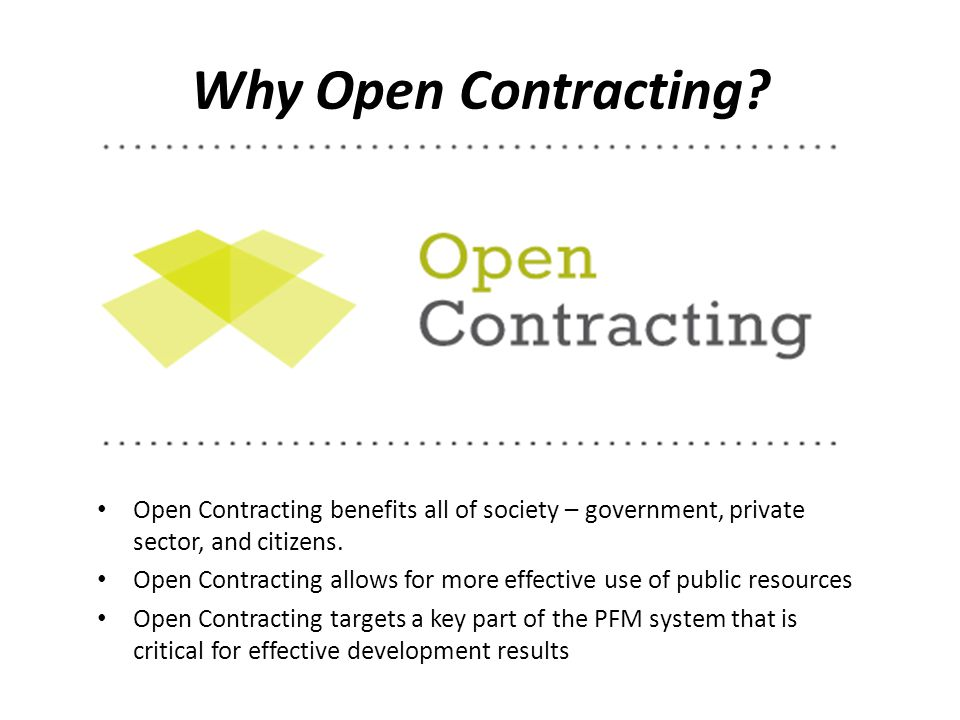 Why Open Contracting.