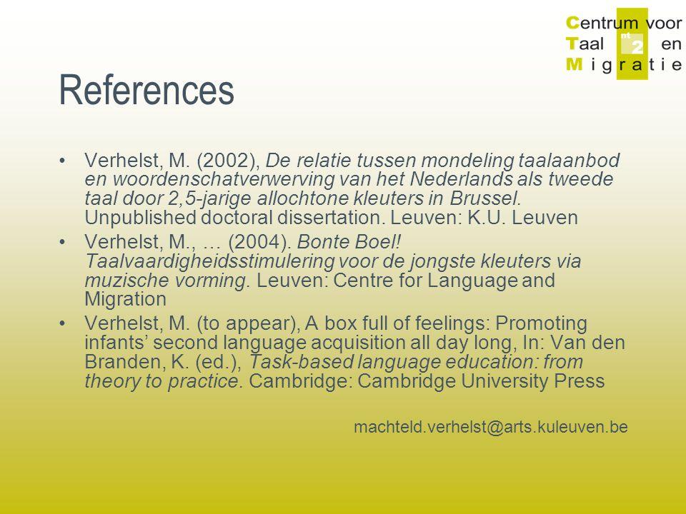 References Verhelst, M.