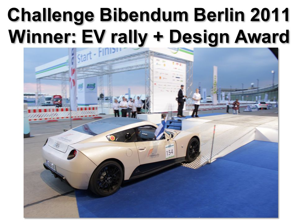 Challenge Bibendum Berlin 2011 Winner: EV rally + Design Award