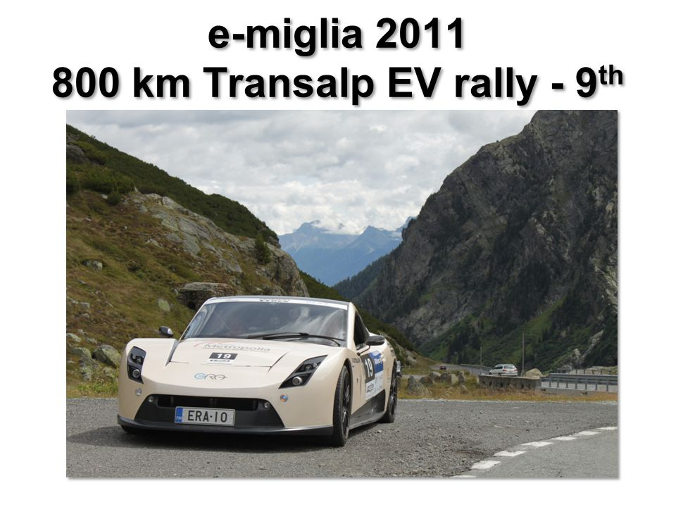 e-miglia 2011 800 km Transalp EV rally - 9 th