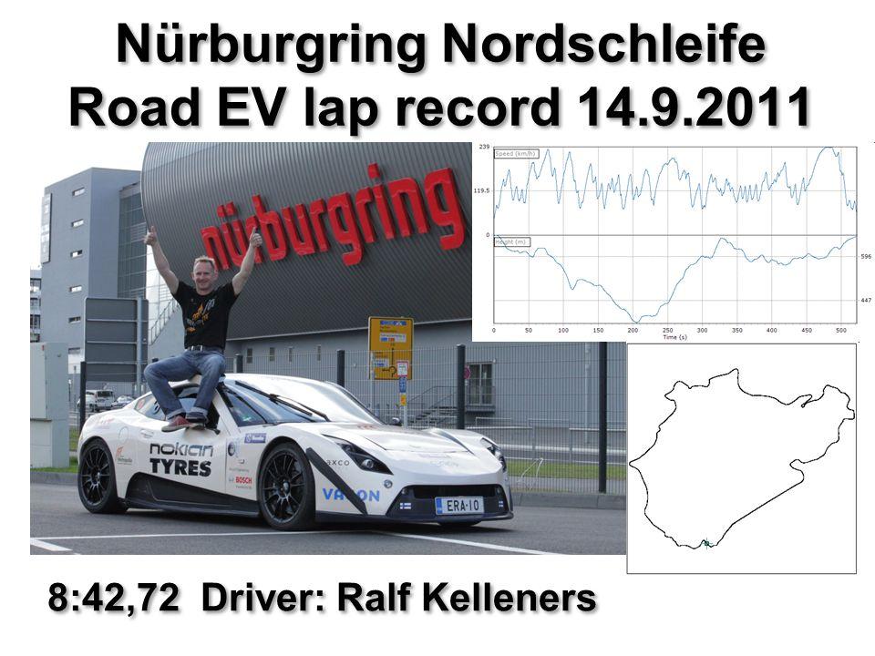 Nürburgring Nordschleife Road EV lap record 14.9.2011 8:42,72 Driver: Ralf Kelleners
