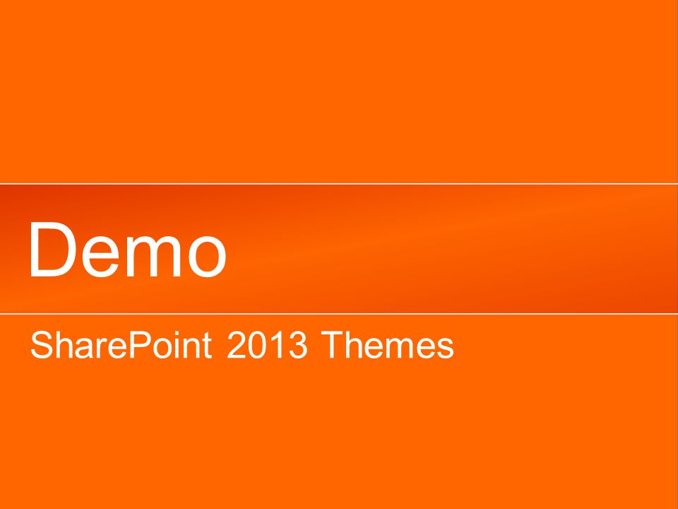 Demo SharePoint 2013 Themes
