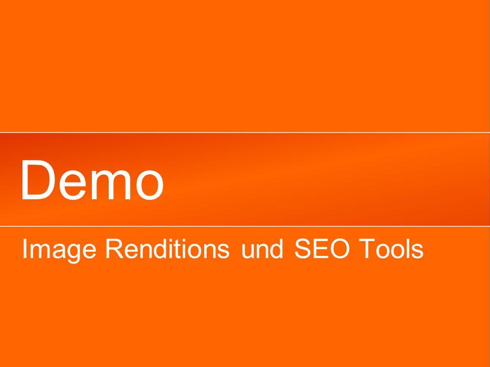 Demo Image Renditions und SEO Tools