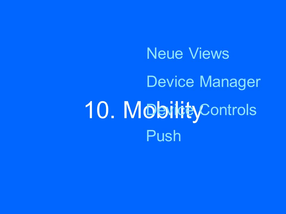 10. Mobility