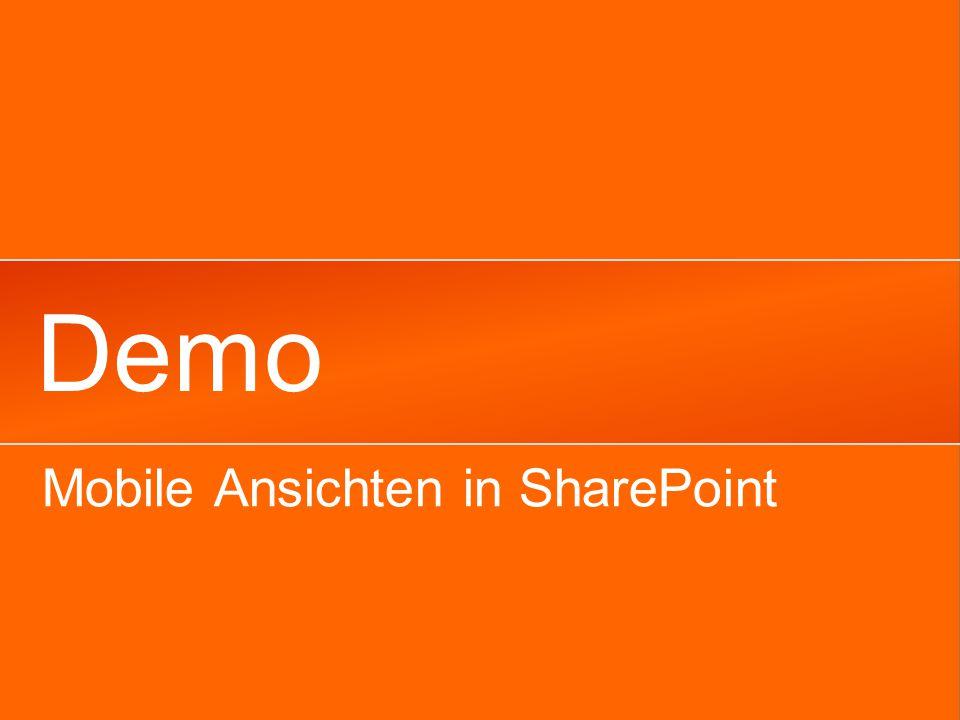 Demo Mobile Ansichten in SharePoint