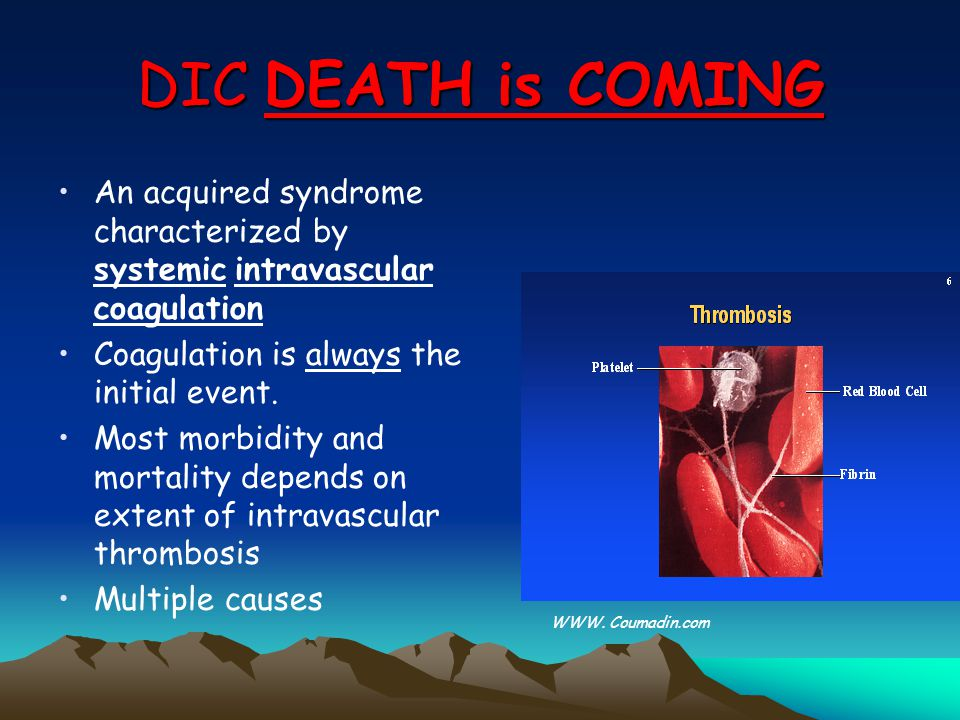 Disseminated Intravascular Coagulation DIC Doç.Dr. Tiraje Celkan