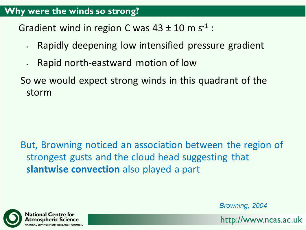 http://www.ncas.ac.uk Why were the winds so strong.