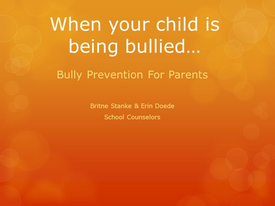 Welcome SFMS Parents  Introductions  Pair and Share:  What have your experiences with bullying been.