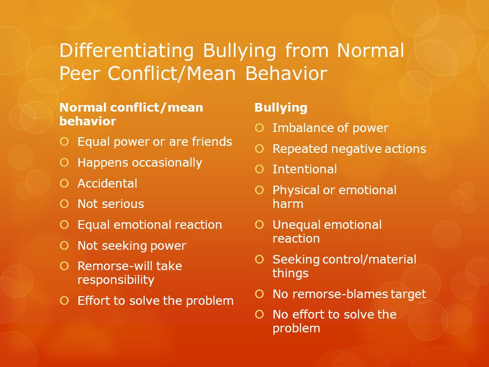 Contributing Factors Associated with Bullying Family Factors  Lack of attention and warmth  Modeling of aggressive behavior at home  Poor supervision Individual Factors  Active, impulsive personality  Lack of empathy for others  Craves attention and approval from others School  School climate is perceived as uncaring or indifferent  Teachers/staff unaware or unclear of bullying definitions or how to respond
