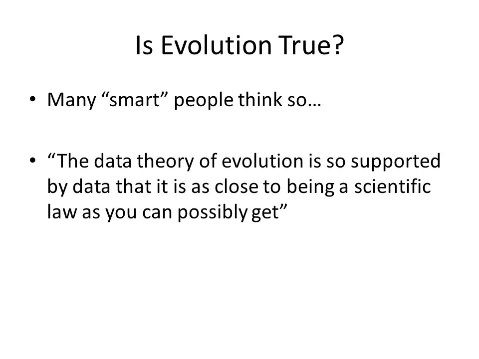 Is Evolution True.