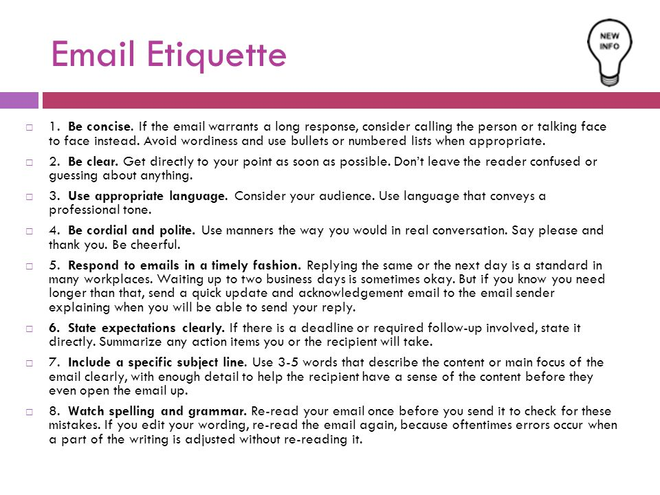 social etiqutte essay Email etiquette refers to a set of dos and don'ts that are recommended by business and communication experts in response to the growing concern that people are not using their email effectively or appropriately since email is part of the virtual world of communication, many people communicate in.