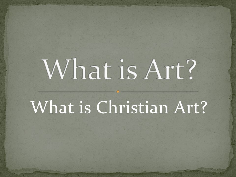 What is Christian Art