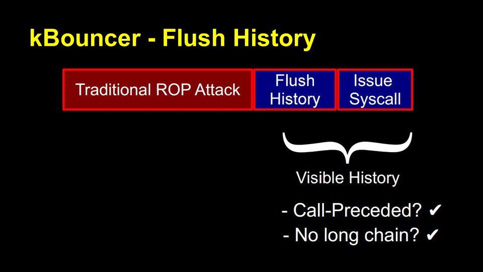 kBouncer - Flush History