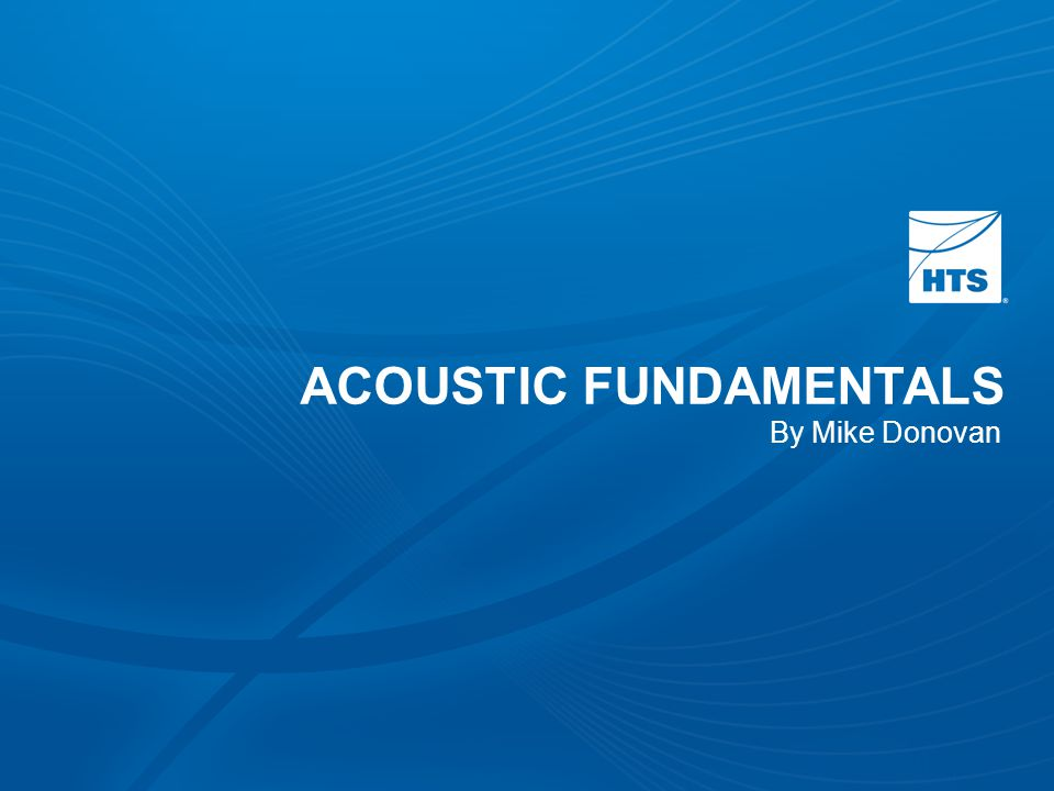 ACOUSTIC FUNDAMENTALS By Mike Donovan