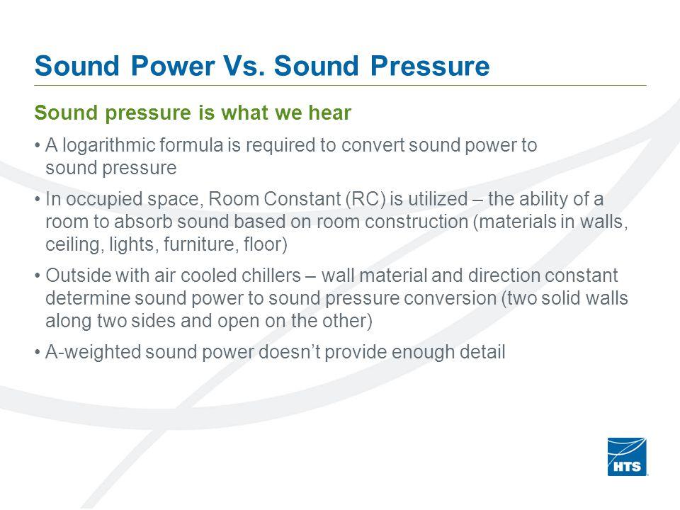 Sound Power Vs.