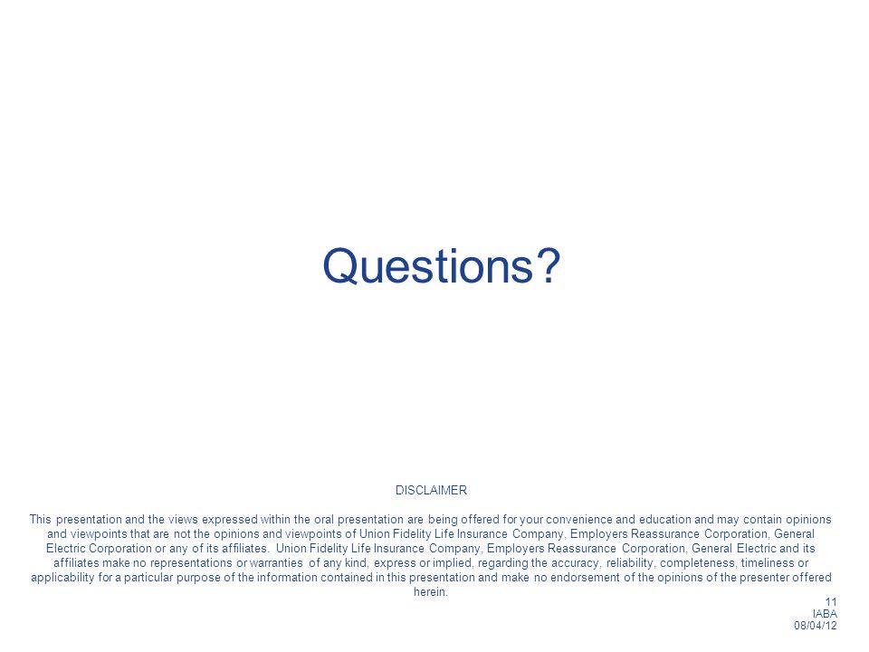 11 IABA 08/04/12 Questions.