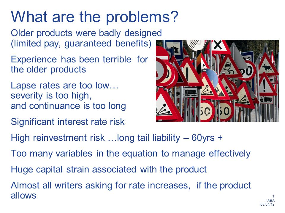 7 IABA 08/04/12 What are the problems.