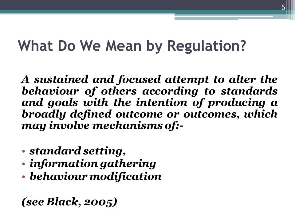 Regulatory Toolbox Definitions Self-regulation 'Command and control' Governance Where does nudge fit.