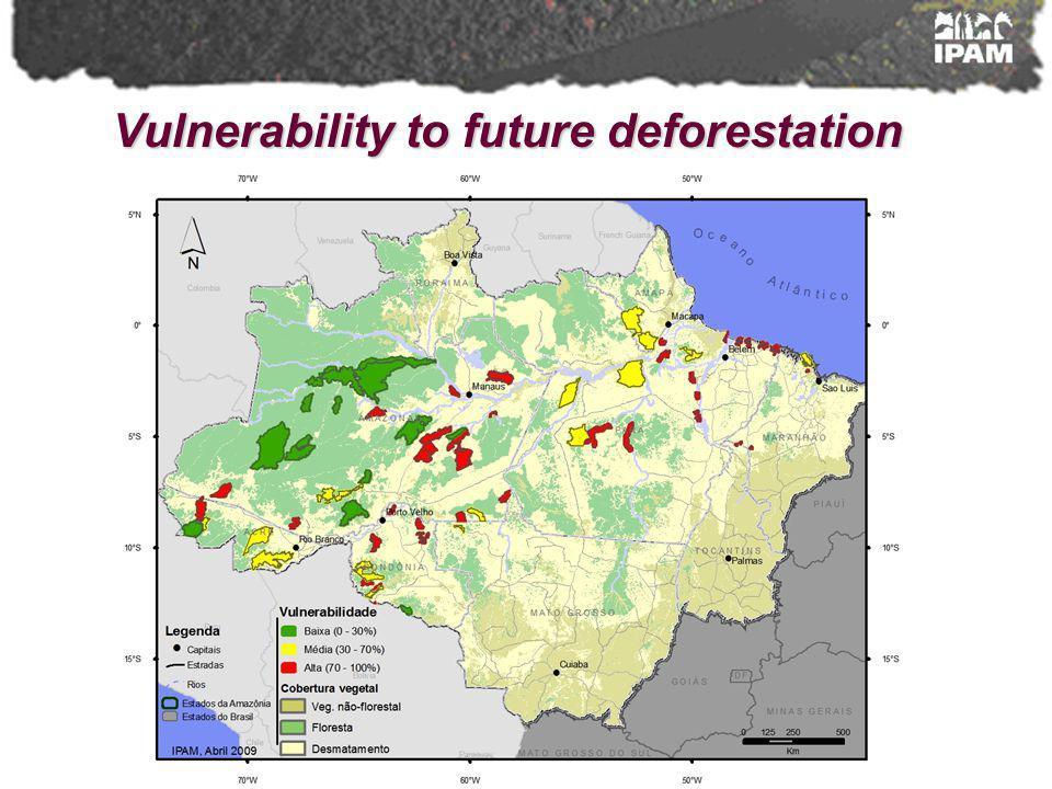 Vulnerability to future deforestation