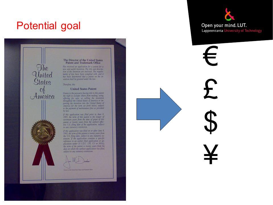 Potential goal €£$¥€£$¥