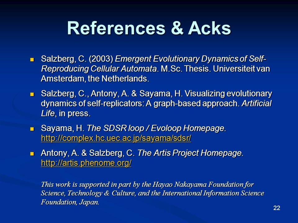 22 References & Acks Salzberg, C.