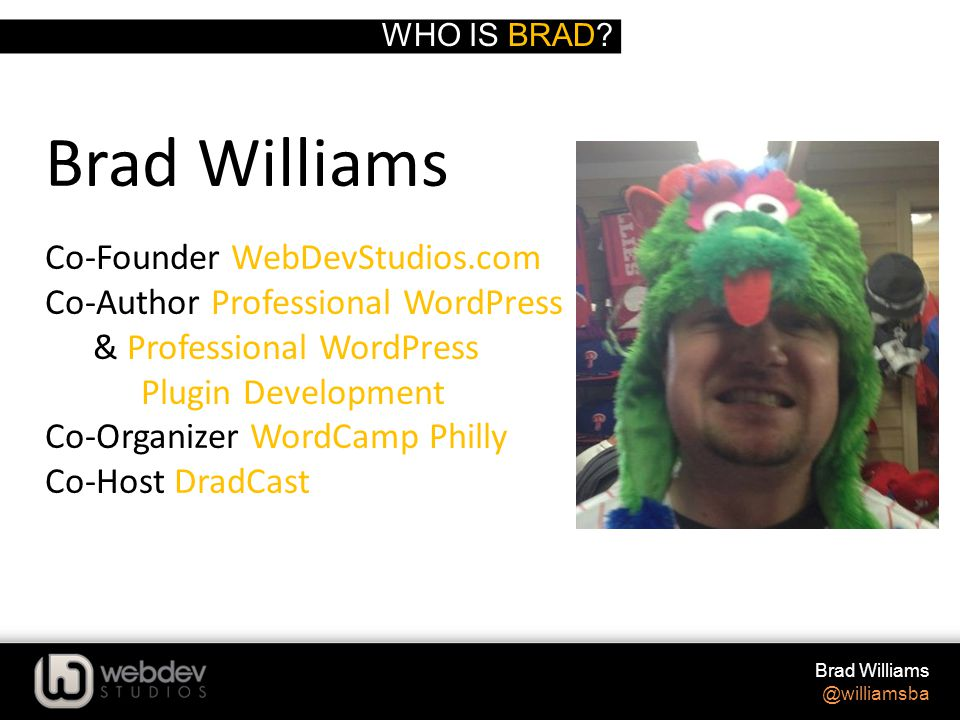 WHO IS BRAD.