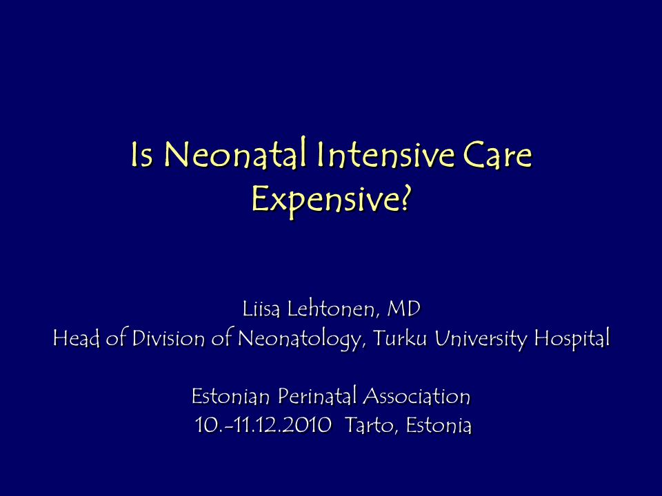 Is Neonatal Intensive Care Expensive.