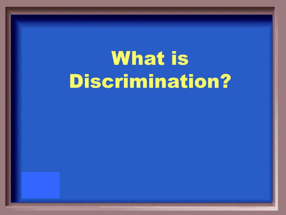 Having a prejudiced outlook, action, or treatment based on gender or race