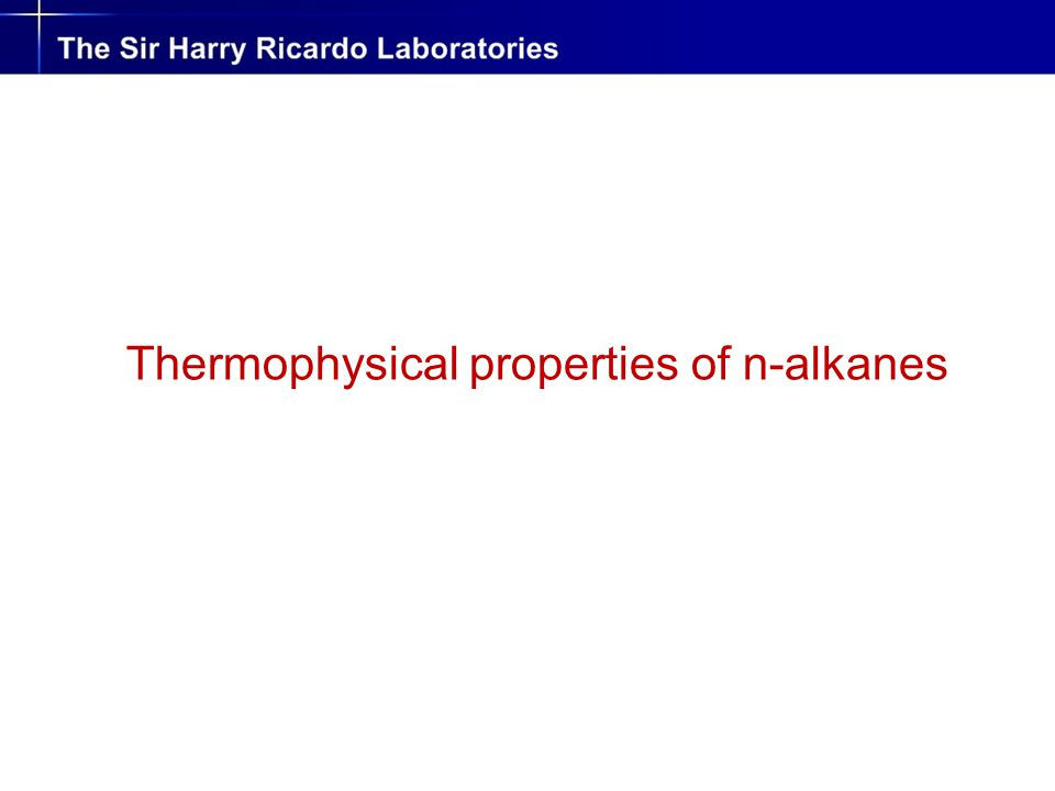 Thermophysical properties of n-alkanes