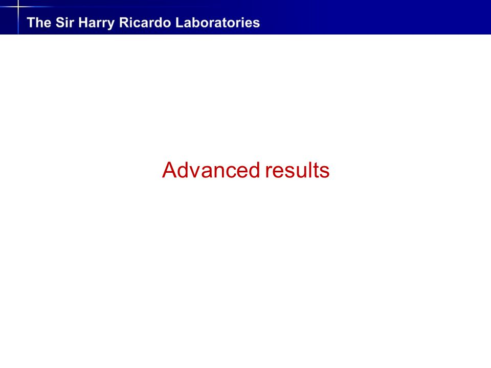 Advanced results