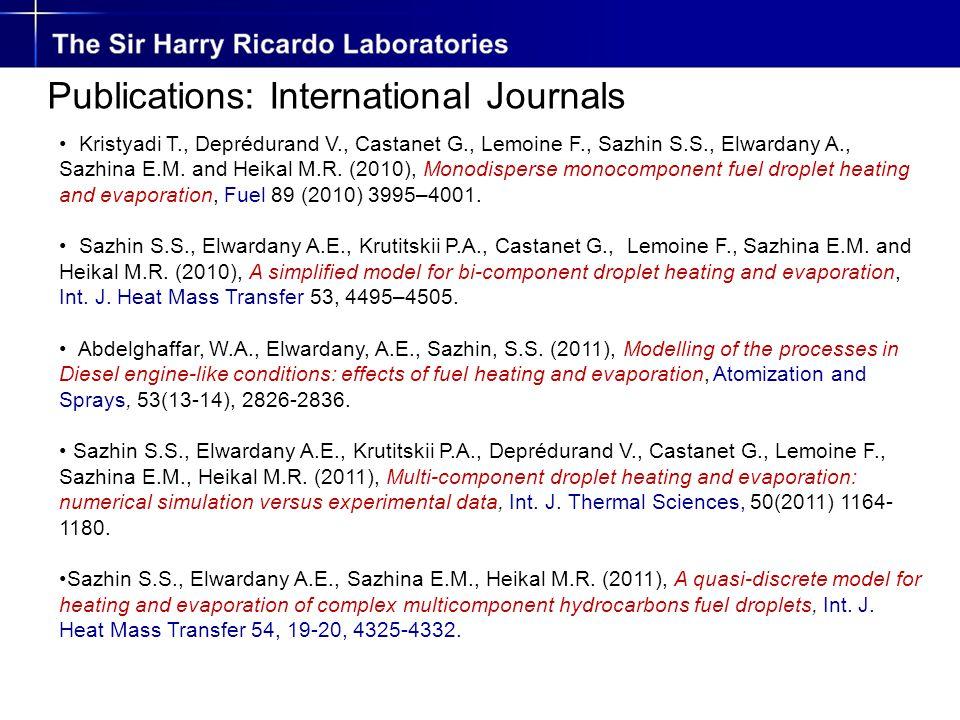 Kristyadi T., Deprédurand V., Castanet G., Lemoine F., Sazhin S.S., Elwardany A., Sazhina E.M.