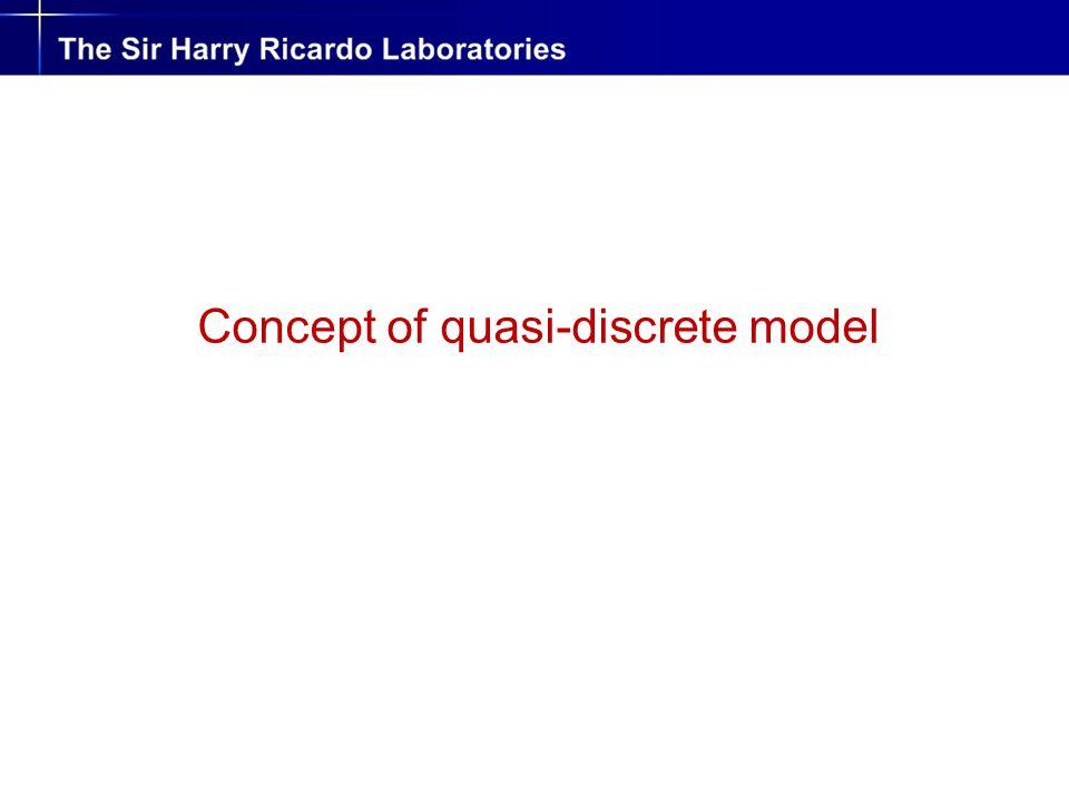 Concept of quasi-discrete model