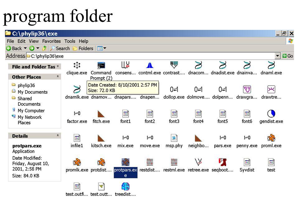 program folder
