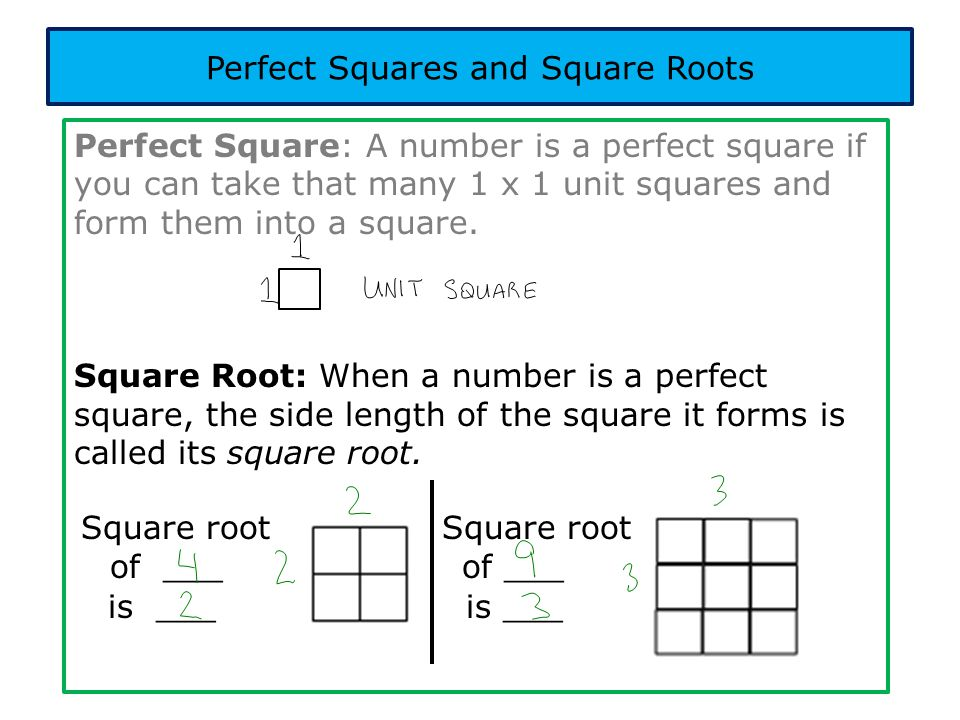 Practice: Determine whether each of the following numbers is a perfect square.