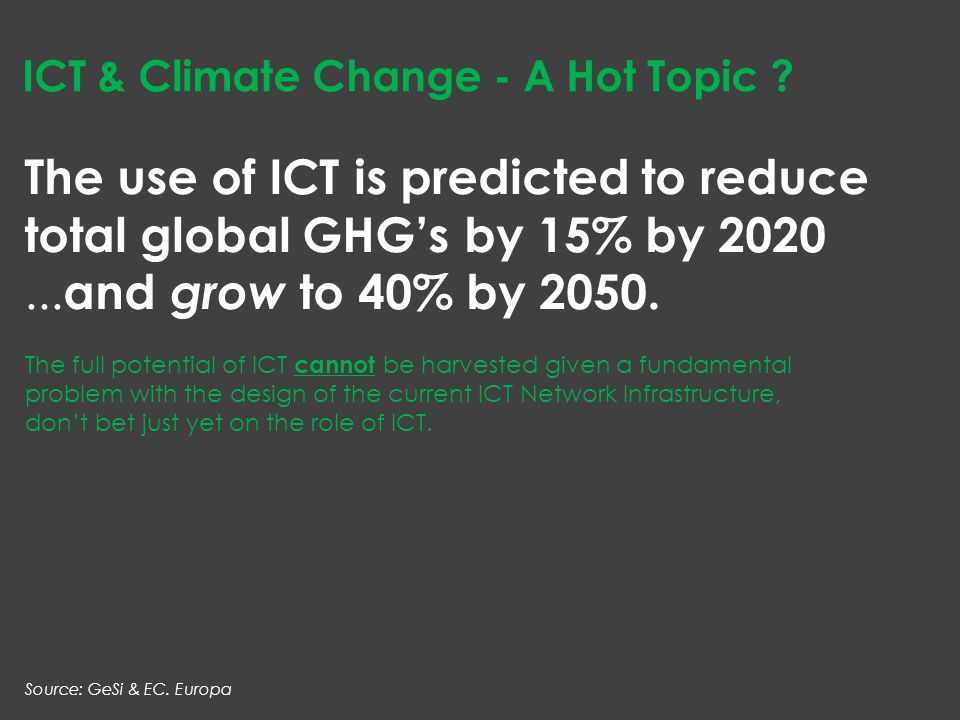 ICT & Climate Change - A Hot Topic .