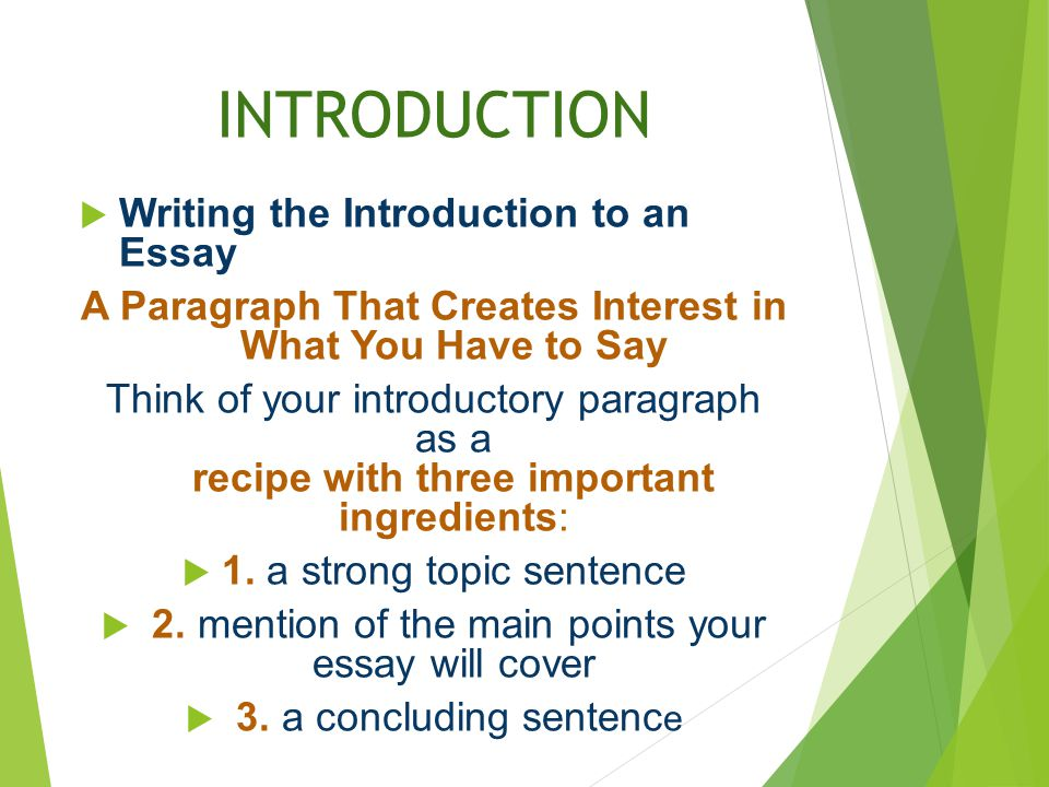 an introduction to writing a school essay