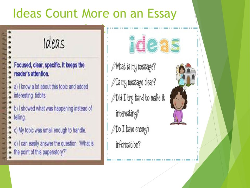 Ideas Count More on an Essay test