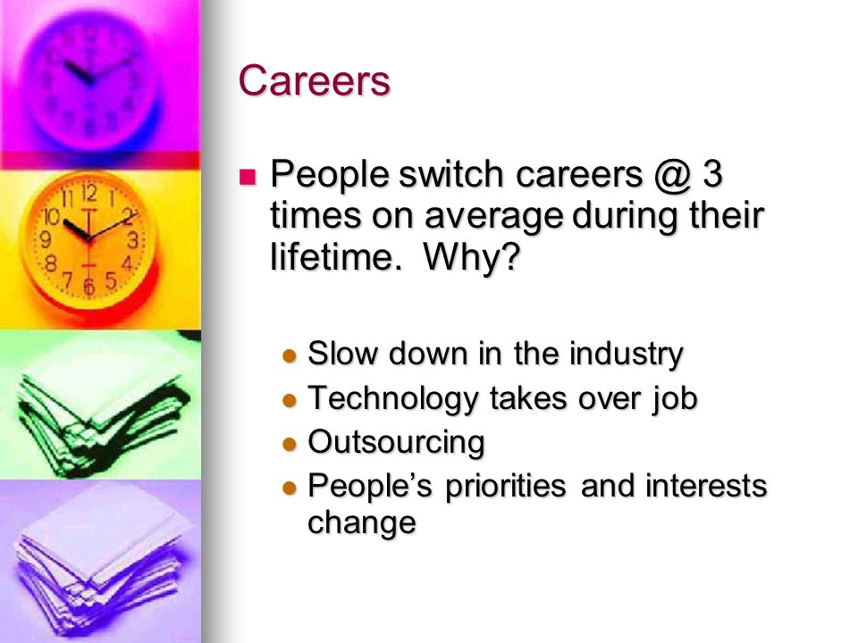 Choosing a Career When choosing a career, you should think about your: 1.