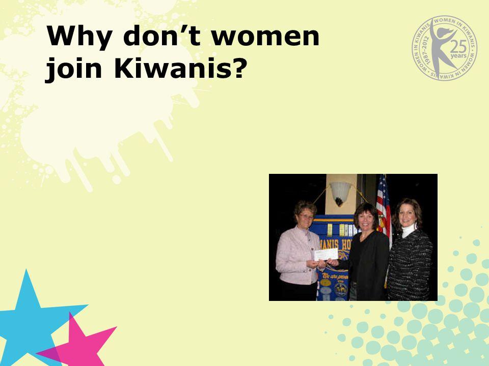 Why don't women join Kiwanis